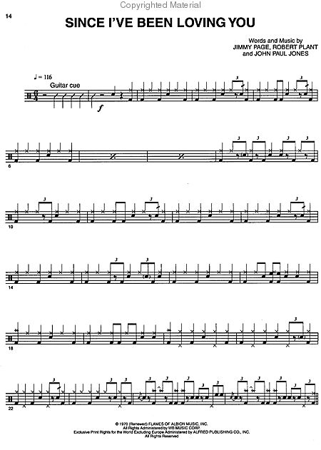Moby Dick Drum Notation