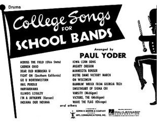 College Songs for School Bands - Drums 1